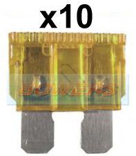 PACK OF 10 12V 24V VOLT 5A AMP BEIGE STANDARD BLADE FUSES KIT CAR VAN MARINE