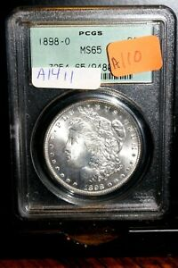 #A1411,Morgan Silver Dollar,1898 O PCGS MS65 Old Green Holder