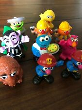 Hasbro Sesame Street Figures Monsters Lot 10 Sesame Workshop 2010 Hard Plastic