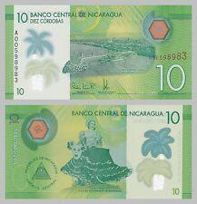Nicaragua 10 Cordobas 2014 Polymer p210 unz.