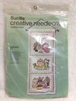 Bucilla Creative Needlecraft Confections Recipe Panel Embroidery Kit #3356 Vtg