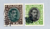 Iceland - Sc# 186 & 187 Used / Revenue Cancels     -      Lot 1220173