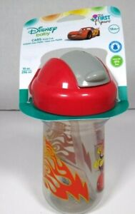 The First Years Disney Baby Child  Cars Lightning McQueen Straw Sippy Cup, 10 oz