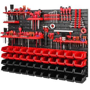 4x Wandregal Lagersystem 50 Boxen Halterungen 1152 mm x 780 mm Stapelboxen Set