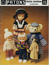vintage Knitting Pattern book PATONS C38  DOLLS CLOTHES  ~ 23 DESIGNS