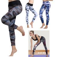 Women Yoga Fitness Leggings Sports High Waist Pants Running Gym Stretch Trousers