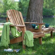 Solid Oak Wood Adirondack Chair With Linseed Oil Finish Patio