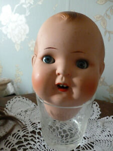 Pretty painted Bisque antique dolls head