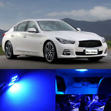 13Pcs Premium Blue LED Lights Interior Package Fit 2014 2015 Infiniti Q50 Q60