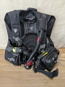 Aqualung Dimension i3 Back-Inflate Scuba BCD Men's Large w/ Aqualung Airsource