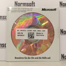 NEUWARE: MS MICROSOFT OFFICE 2007 SBE SMALL BUSINESS VOLLVERSION MIT CD DVD