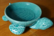 Aqua Sea Turtle Bowl Jewelry Holder Nautical Tropical Beach Home Decor New
