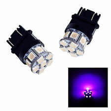 2x Purple 3157 3156 13 5050 SMD LED CAR LIGHT BRAKE TURN BULB  W21W 580 USA