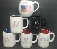 Rae Dunn Mugs *Choose One* USA,America,Brave,Freedom, New