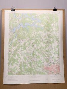 Charlotte North Carolina Mountain Island Lake Old Map 1969 Topographical Survey