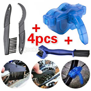 4PCS Bicycle Chain Cleaner Cycling Cleaning Brushes Wash Tools Kit Mountain Bike