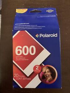 2 Pk POLAROID 600 Instant Color Pack 20 shots Exp 07/2005