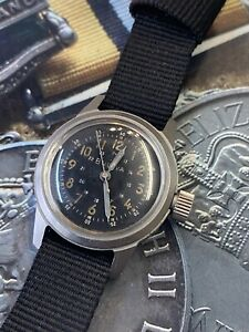RARE VINTAGE USA US ARMY 1940'S WW11 BULOVA A17a  MILITARY WATCH HACK HACKING