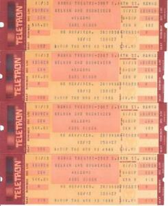 USA 1986 Hanna Theater tickets, unused, expired, mint condition, 4 pieces