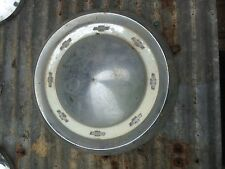 Vintage Chevy  Baby Moon dog dish  Chrome Hub Cap Rat Rod Man Garage Wall art