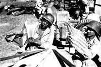 American and Chinese soldiers fortify flags on the hood of a WW2 photo 4x6 #1520
