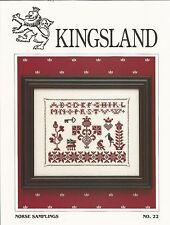 Kingsland NORSE SAMPLINGS Cross Stitch Pattern Chart No. 22