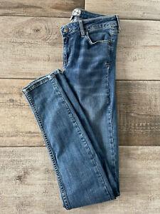 Fat Face Super Skinny Mid Blue Denim Jeans Size 8L