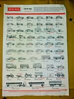 Wiking Die Cast Model Car Van Truck Picture Price List Catalogue 1979/80