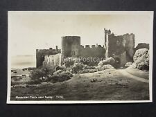 Pembrokeshire MANORBIER CASTLE near Tenby - Old RP Postcard by J. Salmon 15390