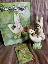 """Easter Snowbunnies / Department 56 """"Loose On A Goose"""" Retired 2002 #56.26422 New"""