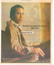 1977 Paul SImon Greatest Hits Etc. Vintage Album Promo Print Ad