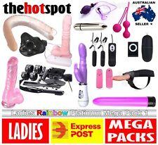 WOMENS COUPLES SEX TOY MEGA PLATINUM PACK 1 Vibrator Strap On Double Ended Dildo