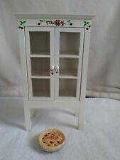Muffy VanderBear Wooden Furniture Hutch Pie Safe W/Pie