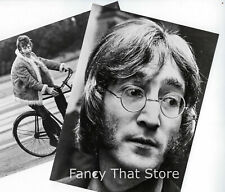 """The Beatles John Lennon ~ Two B/W Candid Photos 