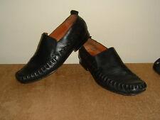 clarks real leather mens black slip on shoes size 7 vhg