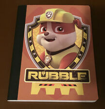 "NEW Paw Patrol ""Rubble"" School Composition Wide-Ruled Notebook"