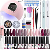 UR SUGAR Nail UV Gel Polish 54W Nail Dryer LED Lamp Brush Rhinestones Gel Kit