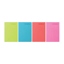 A4 Soft Touch Notebook Notepad Lightly Ruled NEON COLOURS