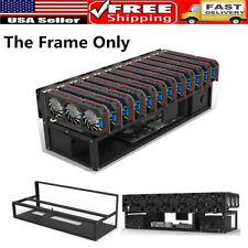 12 GPU Open Air Mining Frame Computer Equipment Rig Case Miner BTC Ethereum US