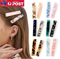 Big Hairclip Leopard Marble Plastic Acrylic Barrette Rectangle Hair Clip Pin