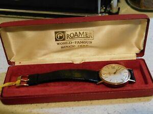 9ct Vintage Gents Roamer Premier Wrist Watch!