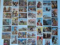 Der Wilde Westen in Bildern von 1951 - Konvolut 44 Sammelbilder TOP KAUKA