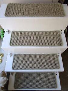 2 Premium Sisal Flat Weave carpet stair pads treads Natural 60cmx20cm