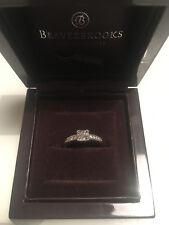 18ct White Gold Beaverbrooks Diamond Cluster Ring size L
