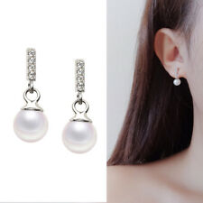 Ohrstecker Stäbchen Perlen Zirkonia echt Sterling Silber 925 Damen Ohrringe