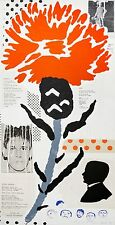 Donald Baechler: Thistle, 1999. Signed, Color, Limited Edition, Fine Art Print.