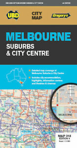 MELBOURNE SUBURBS & CITY CENTRE MAP 318 9th EDITION BY UBD GREGORY'S