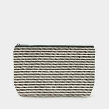 East Of India: Toiletry Bag - Thin Black Stripes