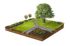10 Meter Rasenkante 18 cm  mit geschützter Versteifungskante - Nur bei uns -