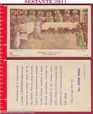 2886 SANTINO HOLY CARD ULTIMA CENA GESù CRISTO PIA SOCIETà A 10 FRUMENTI ADIPE